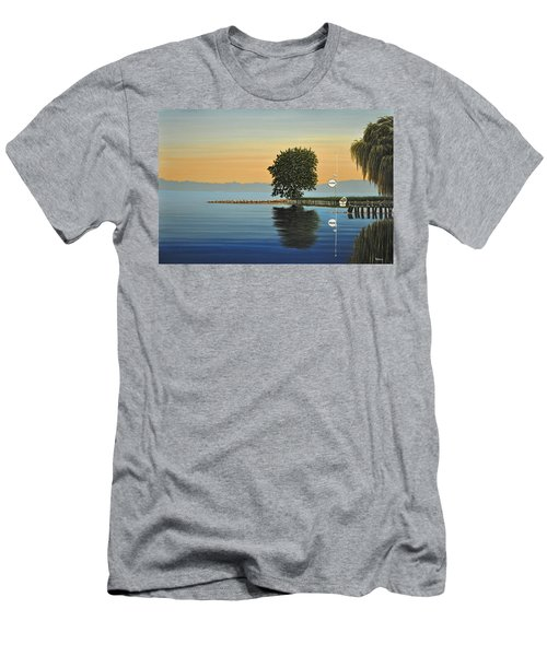 Marina Morning Men's T-Shirt (Slim Fit) by Kenneth M  Kirsch