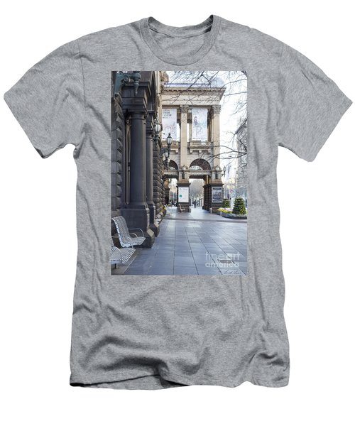Marvellous Melbourne 3 Men's T-Shirt (Slim Fit) by Linda Lees