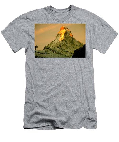 Matterhorn In Switzerland Men's T-Shirt (Athletic Fit)