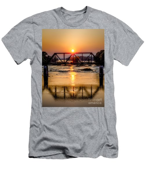Maumee River At Grand Rapids Ohio Men's T-Shirt (Athletic Fit)