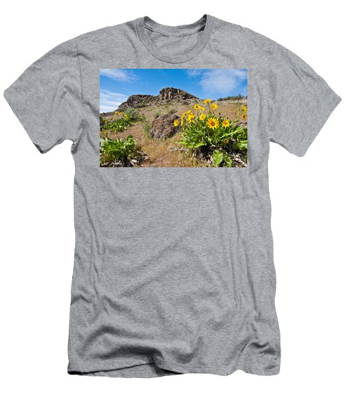 Meadow Of Arrowleaf Balsamroot Men's T-Shirt (Slim Fit) by Jeff Goulden