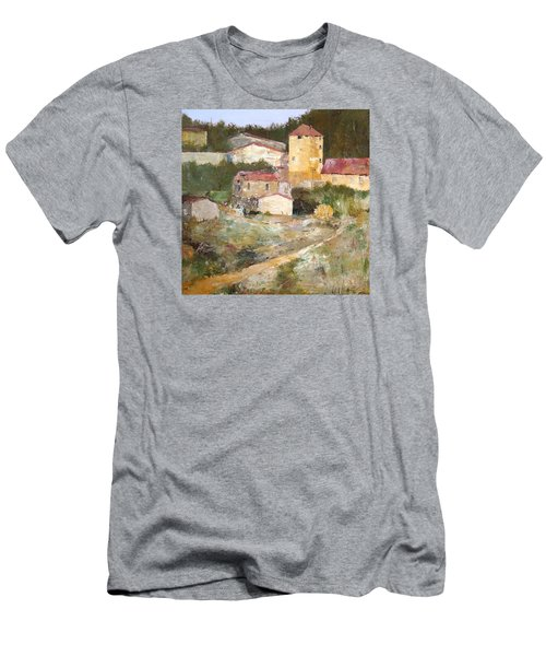 Men's T-Shirt (Slim Fit) featuring the painting Mediterranean Farm by Alan Lakin