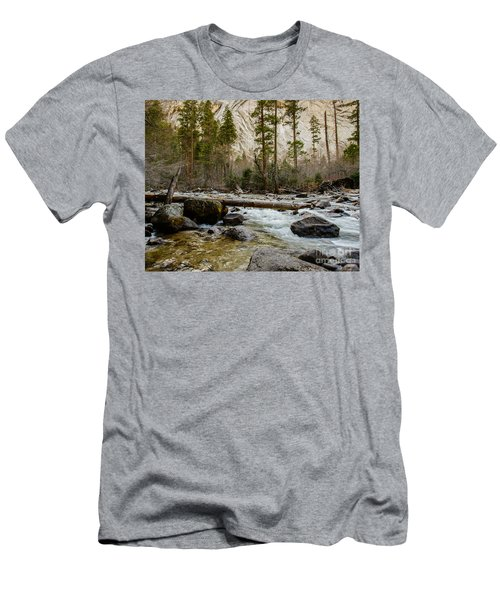 Merced River From Happy Isles 2 Men's T-Shirt (Athletic Fit)