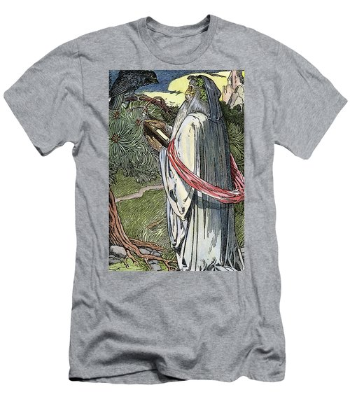 Men's T-Shirt (Slim Fit) featuring the drawing Merlin The Magician, 1923 by Granger