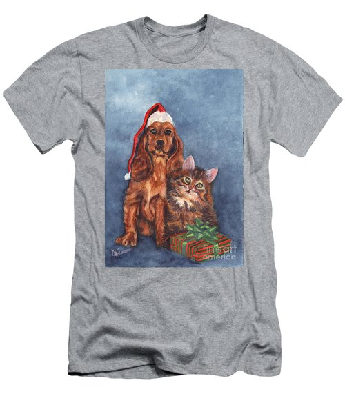 Men's T-Shirt (Slim Fit) featuring the painting Merry Christmas by Carol Wisniewski