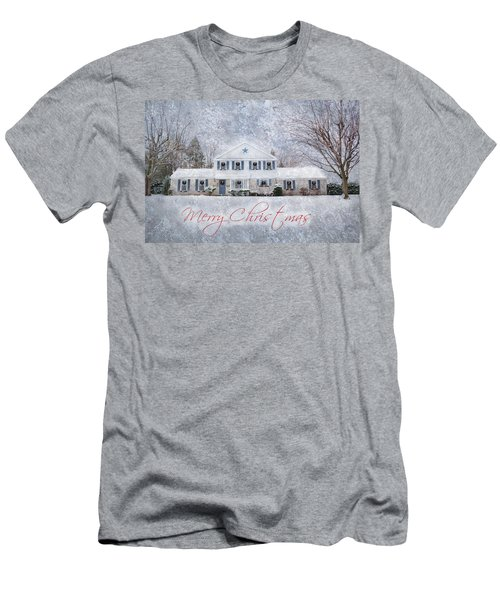 Wintry Holiday - Merry Christmas Men's T-Shirt (Athletic Fit)