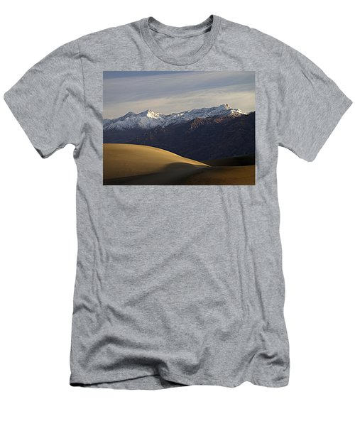 Men's T-Shirt (Slim Fit) featuring the photograph Mesquite Dunes And Grapevine Range by Joe Schofield