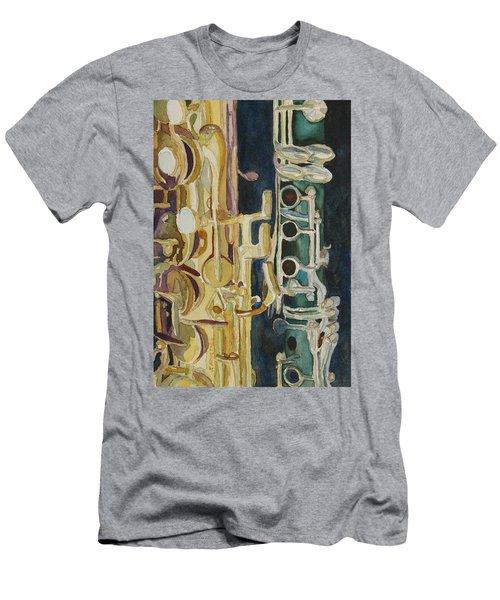 Midnight Duet Men's T-Shirt (Athletic Fit)