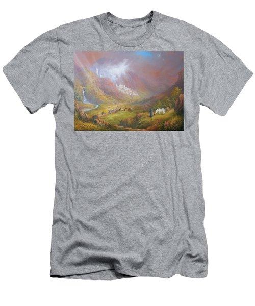 Minas Tirith  War Approaches. Men's T-Shirt (Slim Fit) by Joe  Gilronan