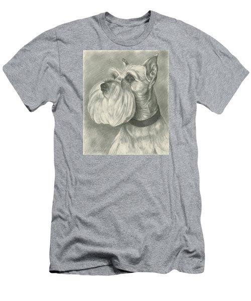 Miniature Schnauzer Men's T-Shirt (Slim Fit) by Lena Auxier