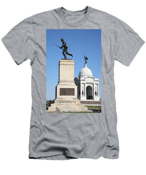Minnesota And Pennsylvania Monuments At Gettysburg Men's T-Shirt (Athletic Fit)