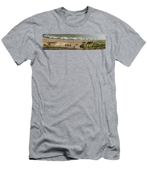 Miraflores Beach Panorama Men's T-Shirt (Athletic Fit)