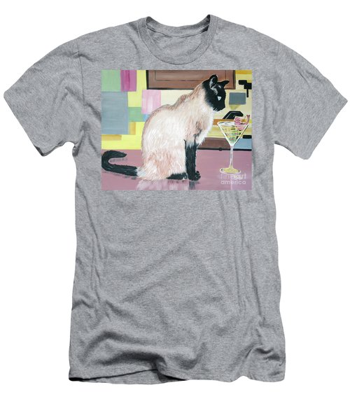 Miss Kitty And Her Treat Men's T-Shirt (Athletic Fit)