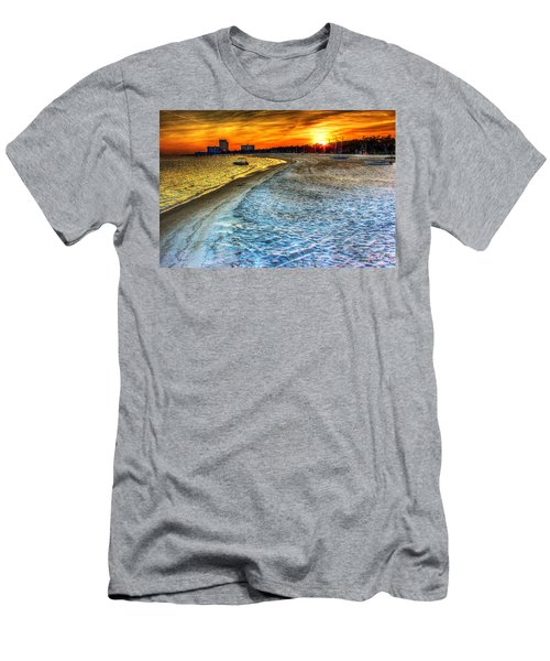 Beach - Coastal - Sunset - Mississippi Gold Men's T-Shirt (Athletic Fit)