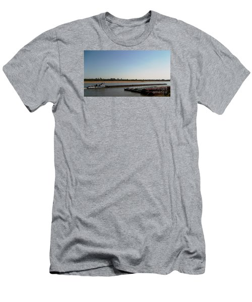 Mississippi River Barge Men's T-Shirt (Slim Fit) by Kelly Awad