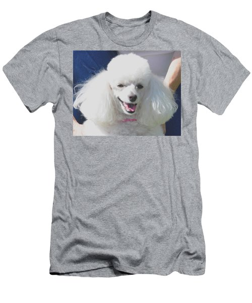 Missy White Poodle Men's T-Shirt (Slim Fit) by Jay Milo
