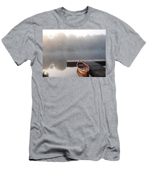 Mist Floating Over The Lake Men's T-Shirt (Athletic Fit)