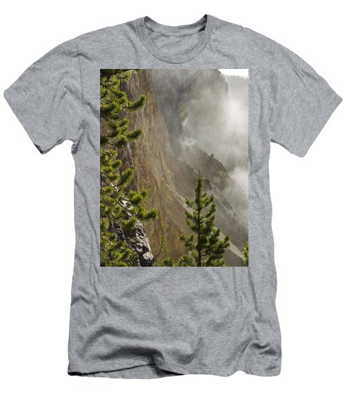 Misty Canyon  Men's T-Shirt (Slim Fit) by Tara Lynn