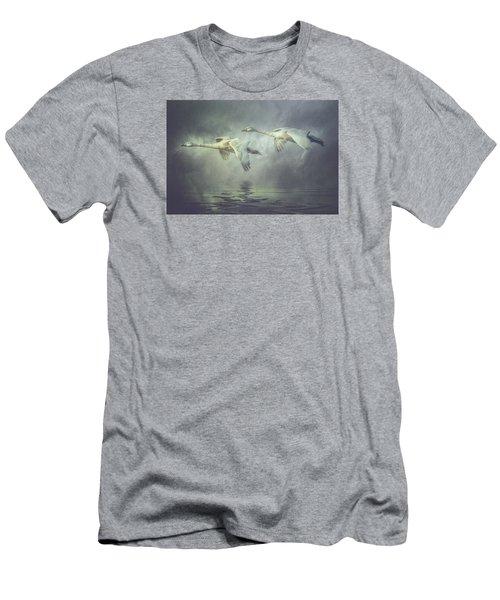 Misty Moon Shadows Men's T-Shirt (Athletic Fit)