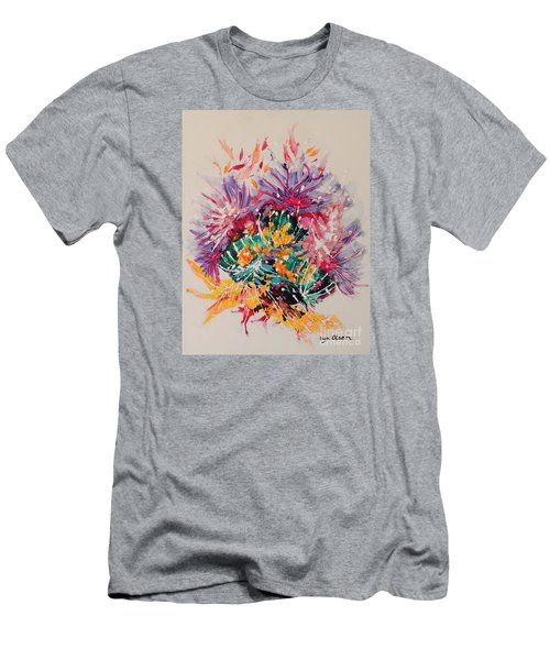 Mixed Coral Men's T-Shirt (Slim Fit) by Lyn Olsen