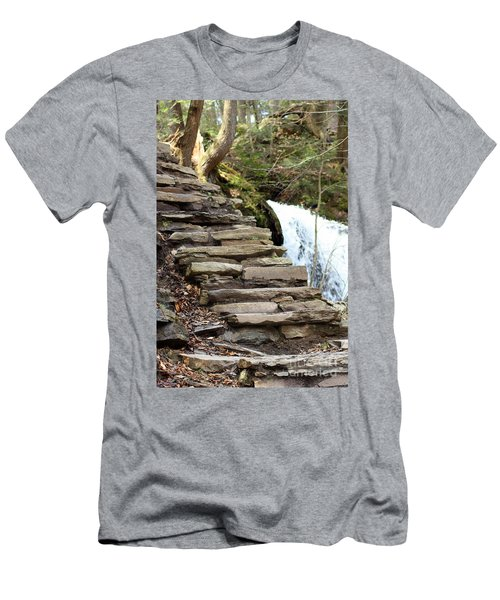 Mohawk Falls Steps Men's T-Shirt (Athletic Fit)