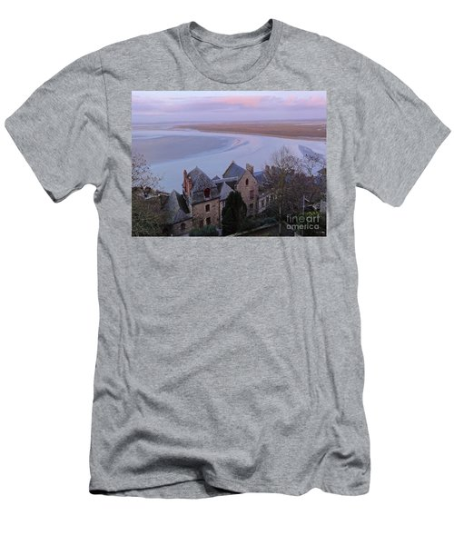Mont St Michel Tower View Men's T-Shirt (Athletic Fit)