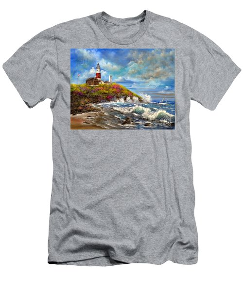 Montauk Lighthouse Men's T-Shirt (Athletic Fit)