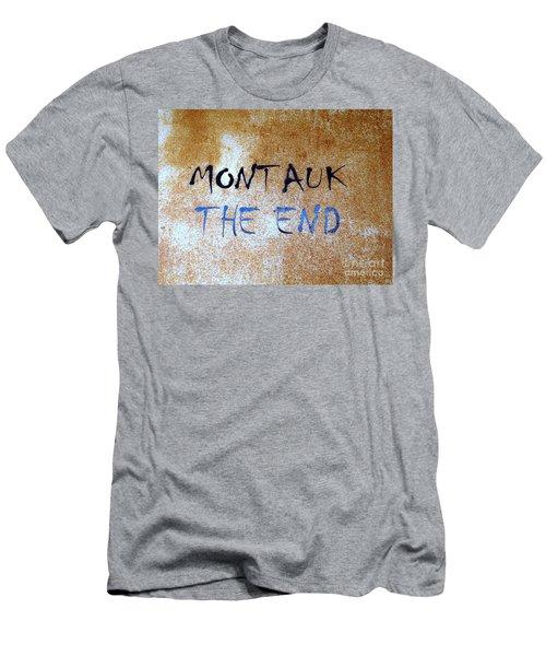 Montauk-the End Men's T-Shirt (Athletic Fit)