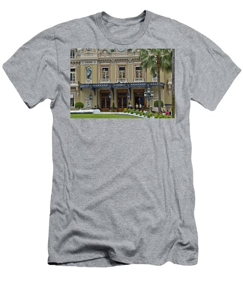 Men's T-Shirt (Slim Fit) featuring the photograph Monte Carlo Casino by Allen Sheffield