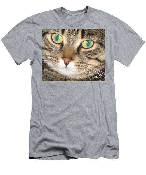 Men's T-Shirt (Slim Fit) featuring the photograph Monty The Cat by Jolanta Anna Karolska