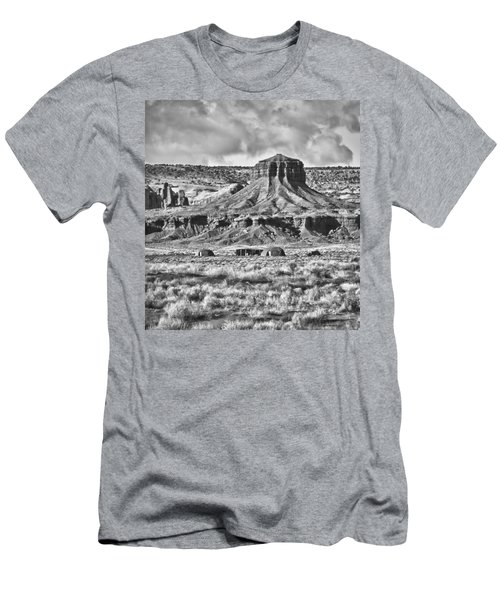 Men's T-Shirt (Slim Fit) featuring the photograph Monument Valley 7 Bw by Ron White