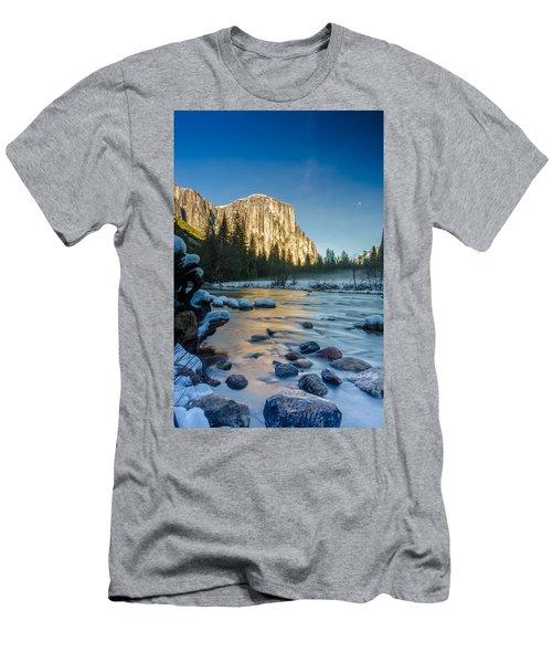 Moon Over El Capitan Men's T-Shirt (Athletic Fit)