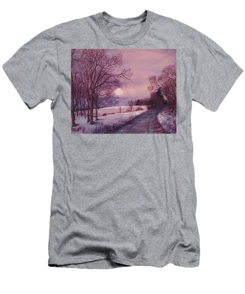 Men's T-Shirt (Slim Fit) featuring the painting Moon Rising by Joy Nichols