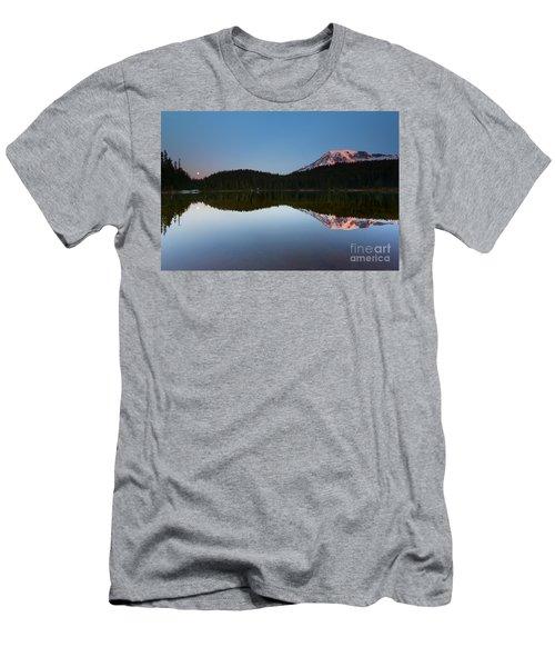 Moonset Over Rainier Men's T-Shirt (Athletic Fit)