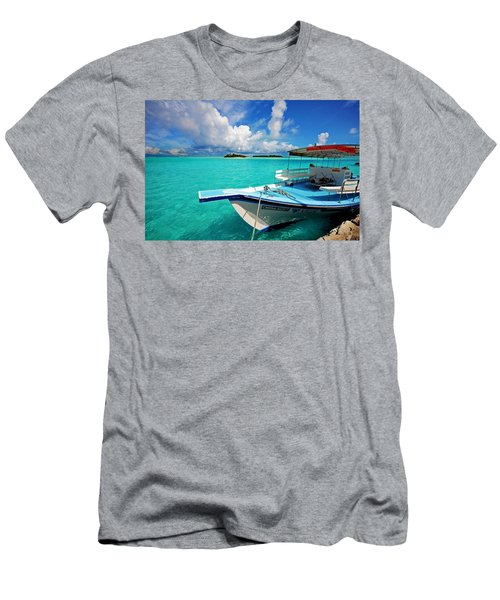Moored Dhoni At Sun Island. Maldives Men's T-Shirt (Athletic Fit)