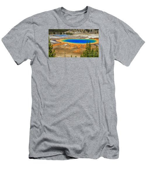 Grand Prismatic Geyser Yellowstone National Park Men's T-Shirt (Athletic Fit)