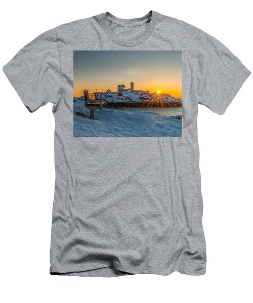 Morning Light At Nubble Lighthouse Men's T-Shirt (Athletic Fit)