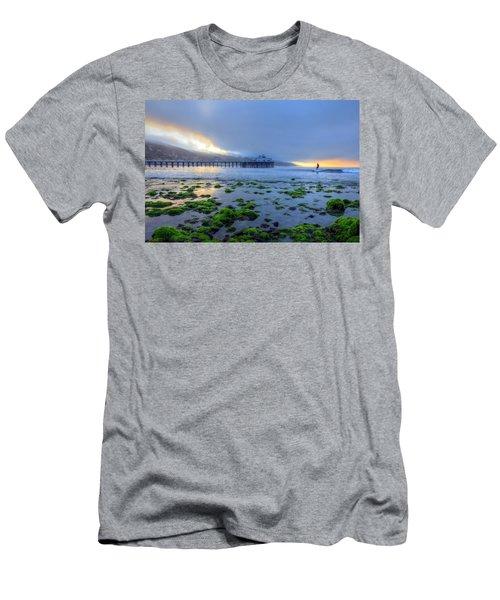 Morning Malibu Surf Men's T-Shirt (Athletic Fit)