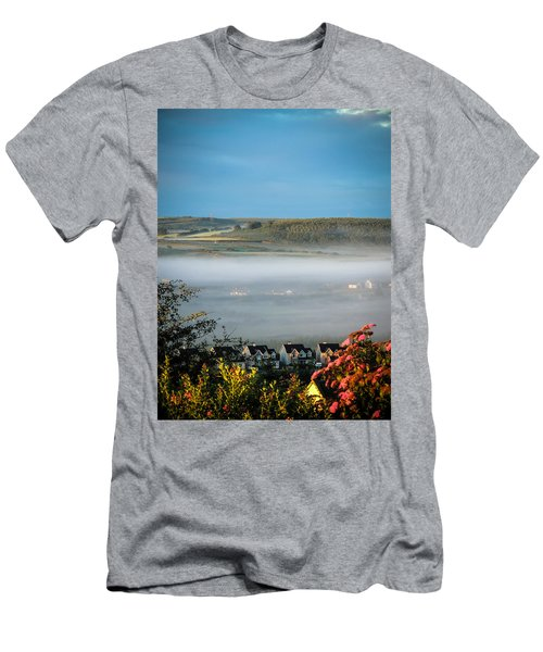 Morning Mist Over Lissycasey Men's T-Shirt (Athletic Fit)
