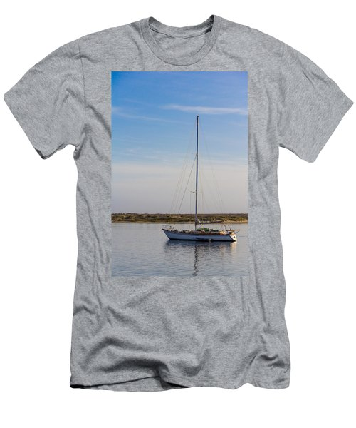 Sailboat At Anchor In Morro Bay Men's T-Shirt (Athletic Fit)