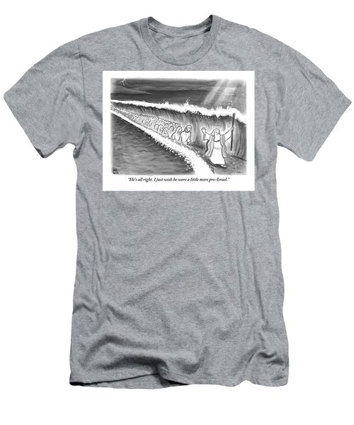 Moses Parting The Sea Men's T-Shirt (Athletic Fit)