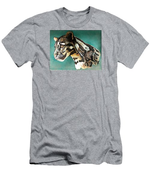 Men's T-Shirt (Slim Fit) featuring the painting Most Elegant Leopard by VLee Watson