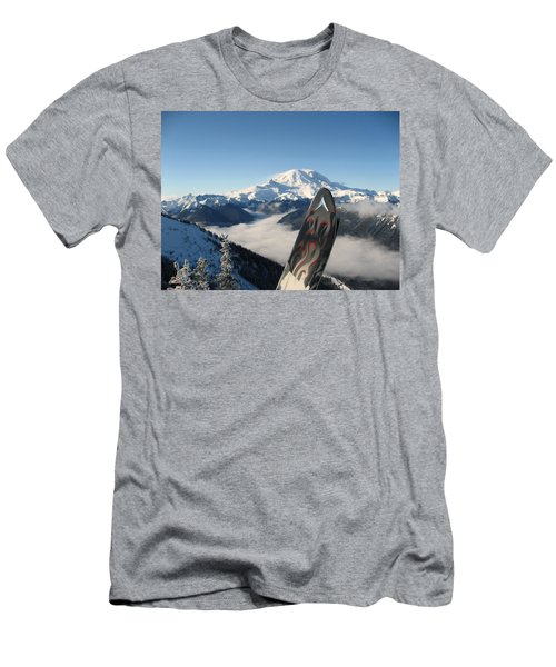 Mount Rainier Has Skis Men's T-Shirt (Athletic Fit)