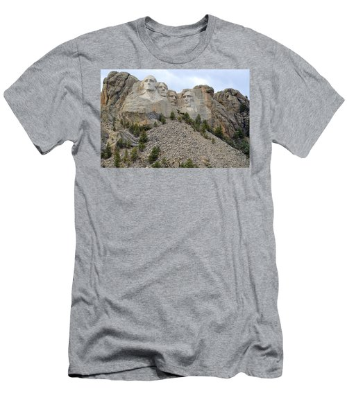 Men's T-Shirt (Slim Fit) featuring the photograph Mount Rushmore In South Dakota by Clarice  Lakota