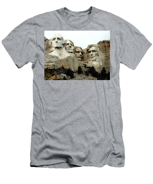 Men's T-Shirt (Slim Fit) featuring the photograph Mount Rushmore Presidents by Clarice  Lakota