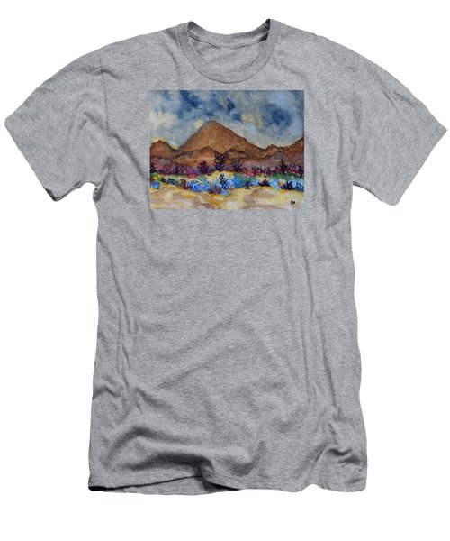 Mountain Desert Scene Men's T-Shirt (Athletic Fit)