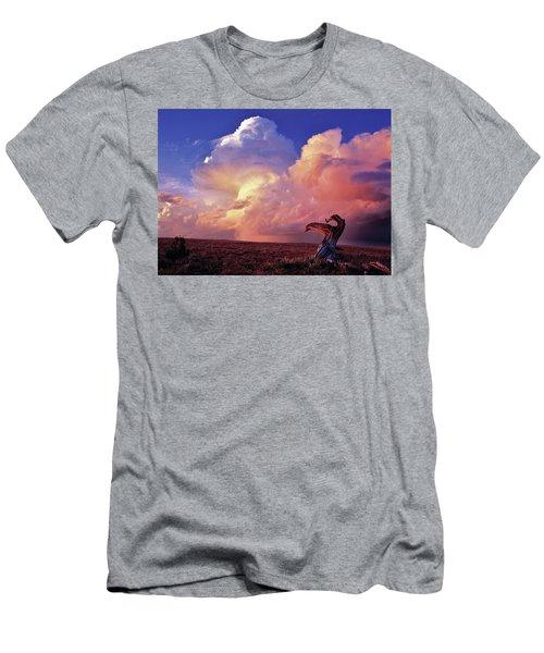 Mountain Thunder Shower Men's T-Shirt (Athletic Fit)