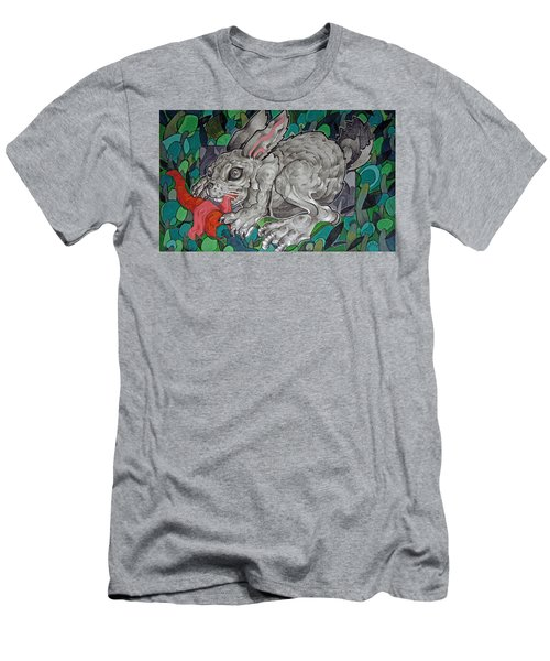 Mr Greedy Bunny Men's T-Shirt (Athletic Fit)