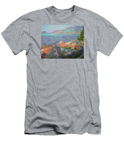 Mt. Desert From Schoodic Point Men's T-Shirt (Slim Fit) by Francine Frank
