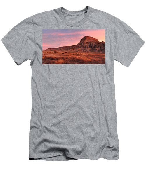 Men's T-Shirt (Slim Fit) featuring the photograph Mt Garfield Sunrise by Ronda Kimbrow